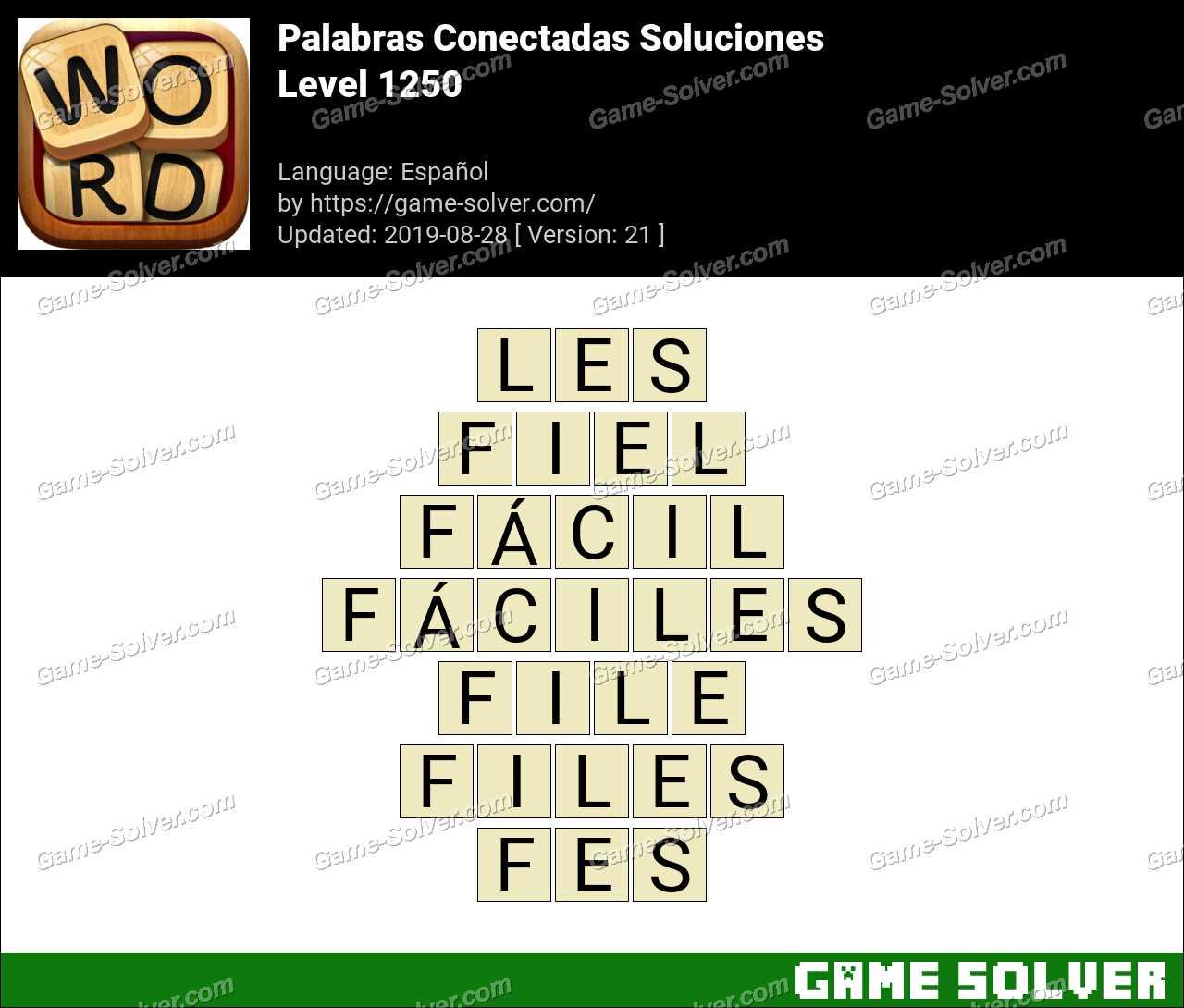 Palabras Conectadas Nivel 1250 Soluciones