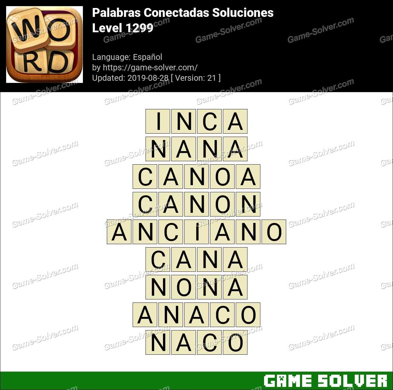 Palabras Conectadas Nivel 1299 Soluciones