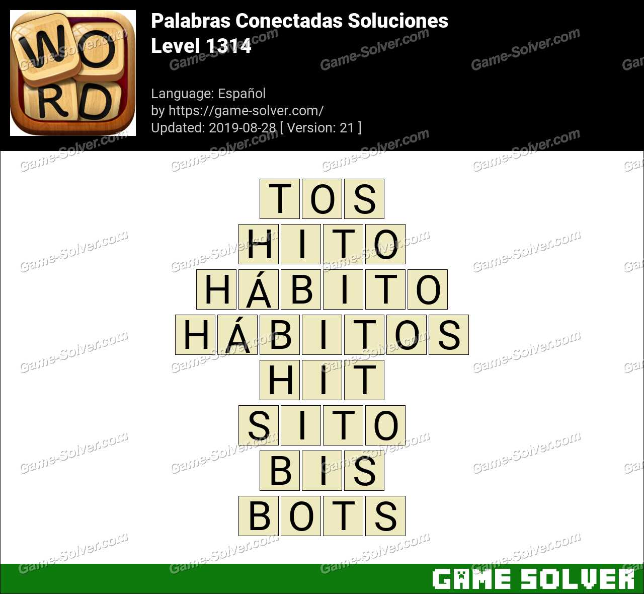 Palabras Conectadas Nivel 1314 Soluciones