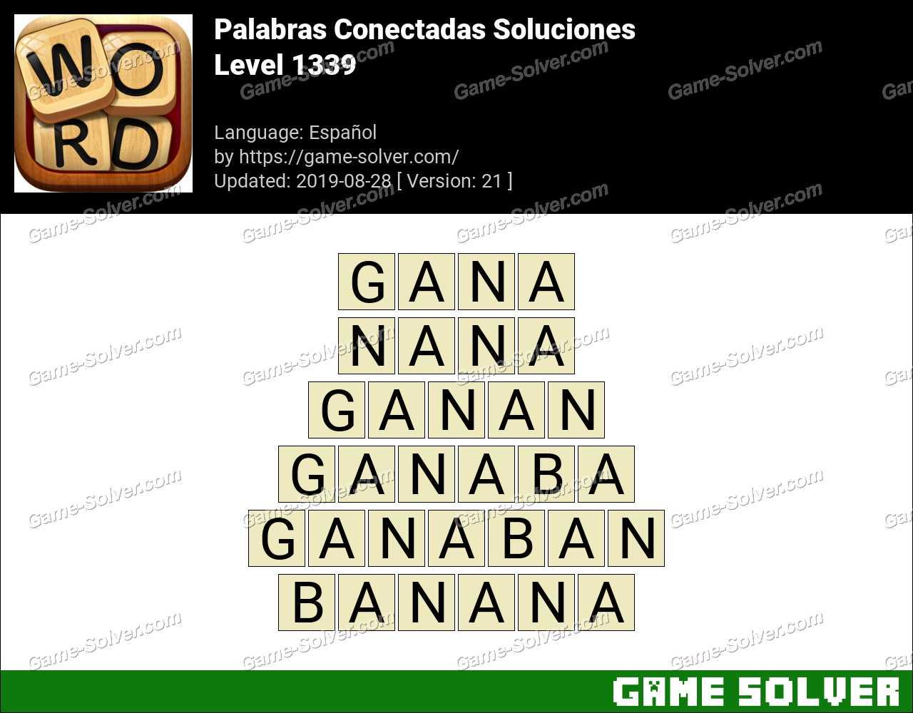 Palabras Conectadas Nivel 1339 Soluciones