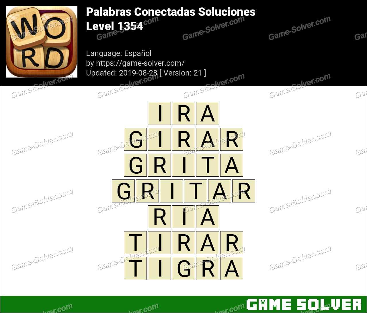 Palabras Conectadas Nivel 1354 Soluciones
