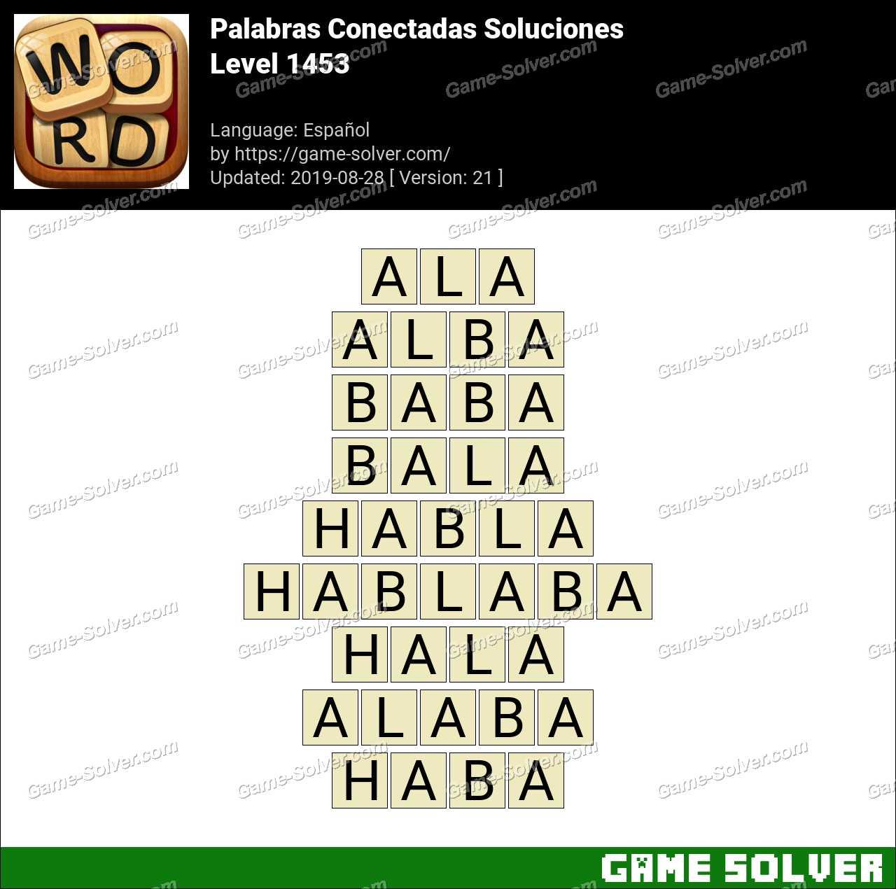 Palabras Conectadas Nivel 1453 Soluciones