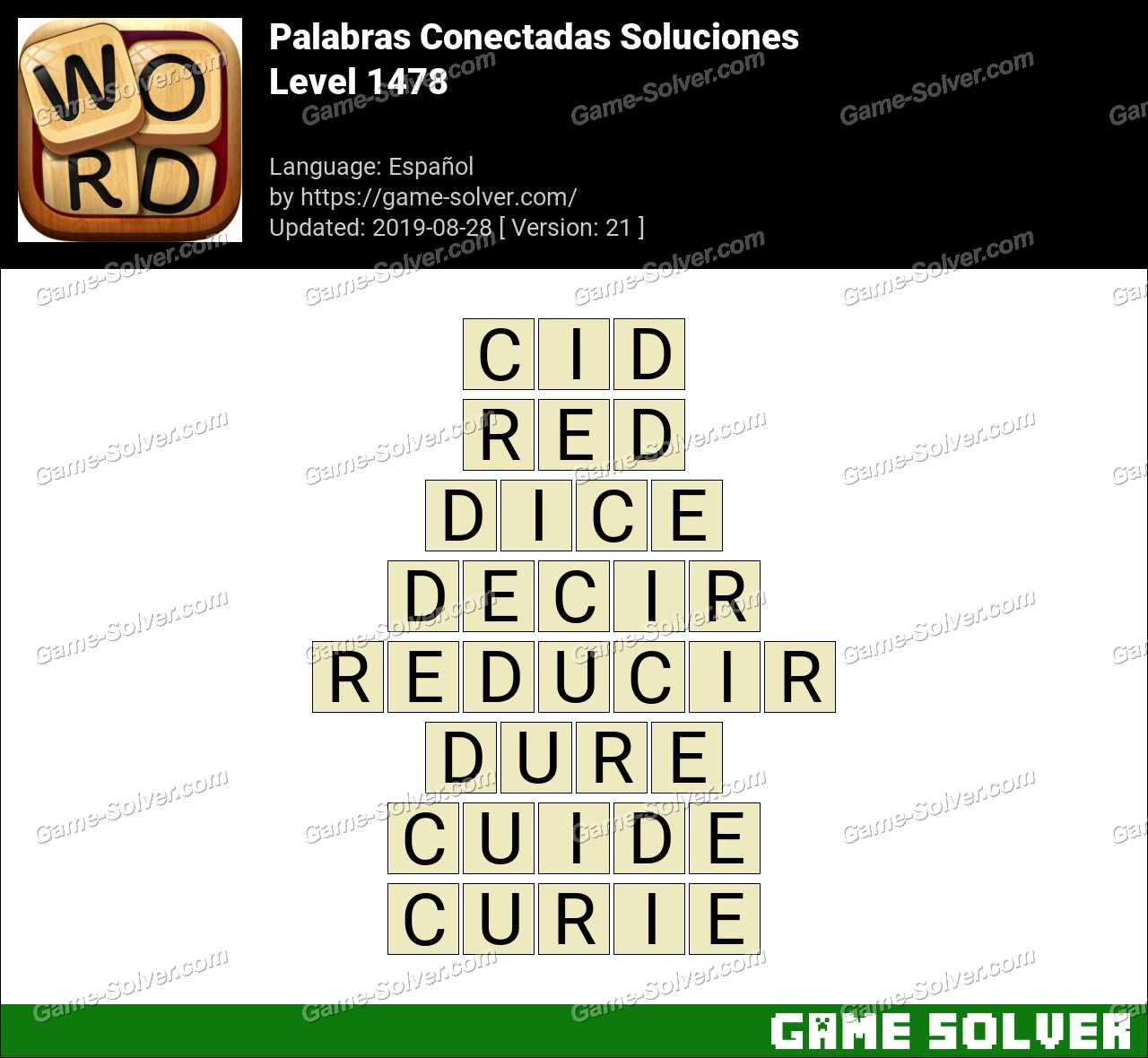 Palabras Conectadas Nivel 1478 Soluciones