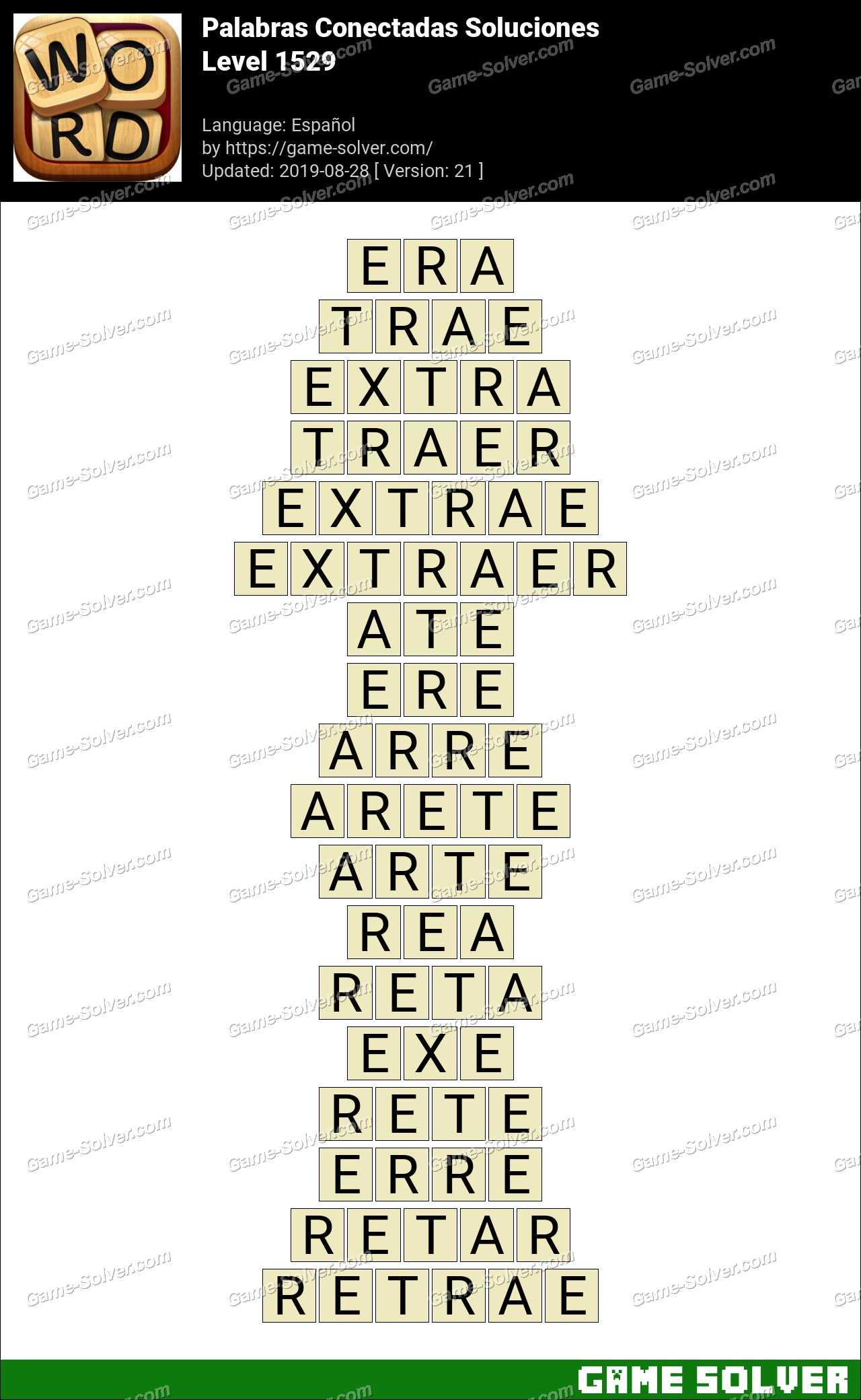 Palabras Conectadas Nivel 1529 Soluciones