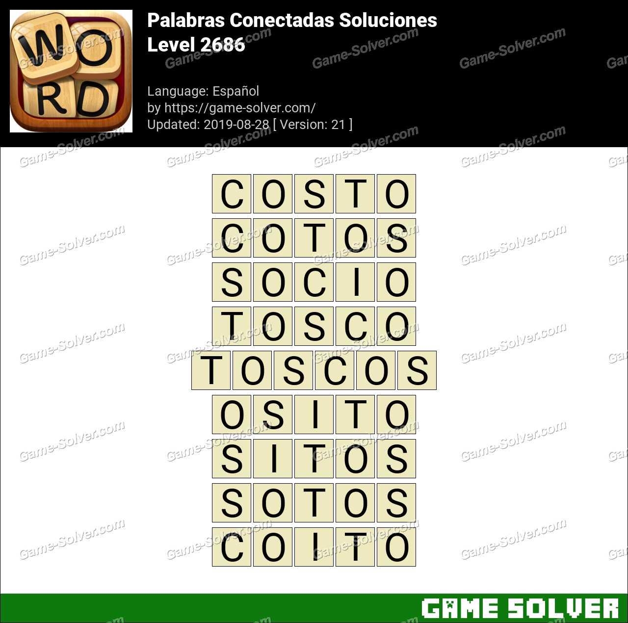 Palabras Conectadas Nivel 2686 Soluciones