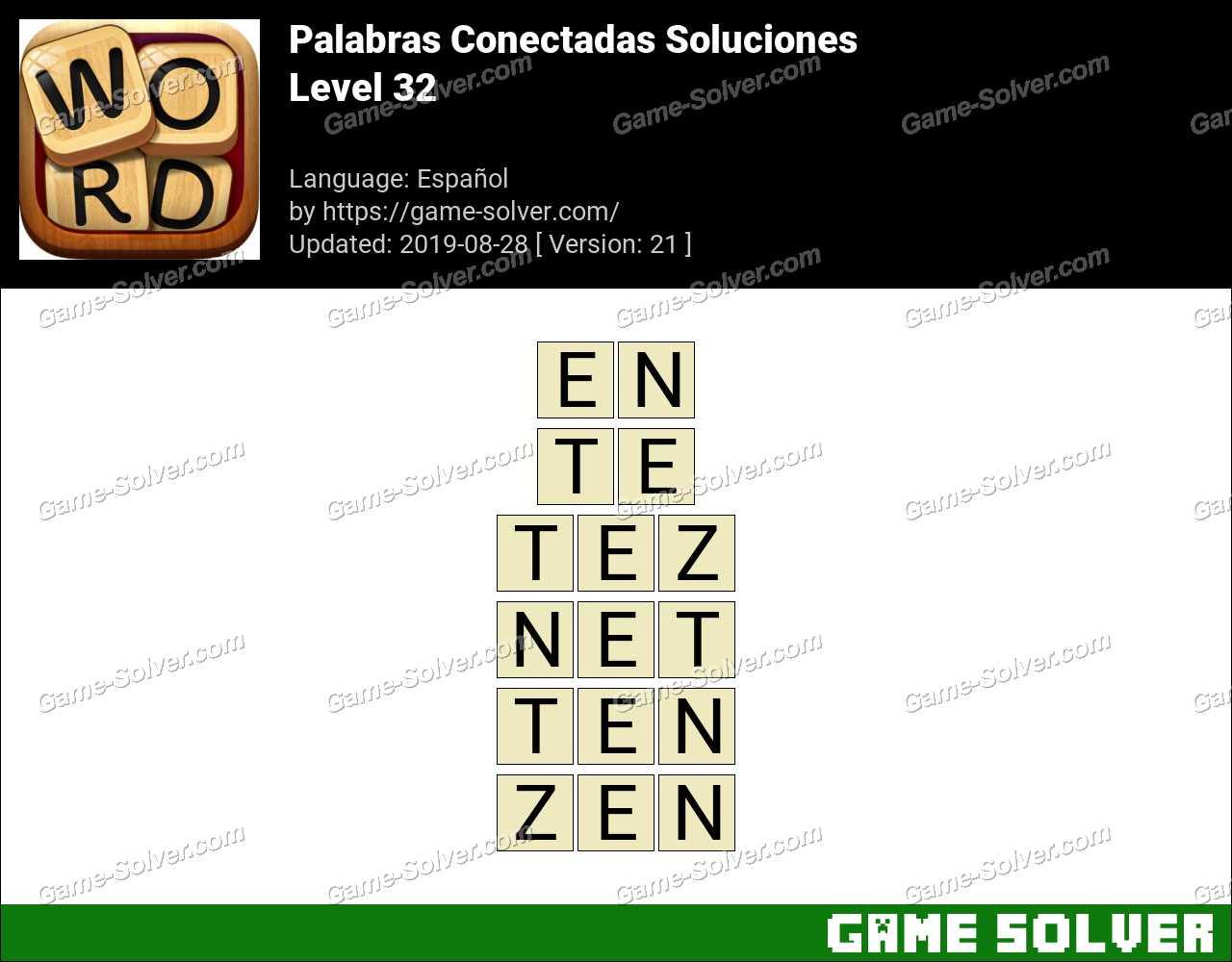 Palabras Conectadas Nivel 32 Soluciones