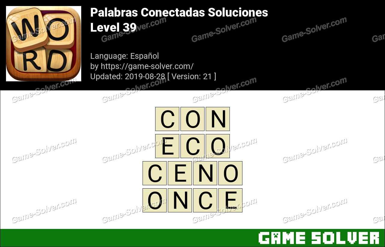 Palabras Conectadas Nivel 39 Soluciones
