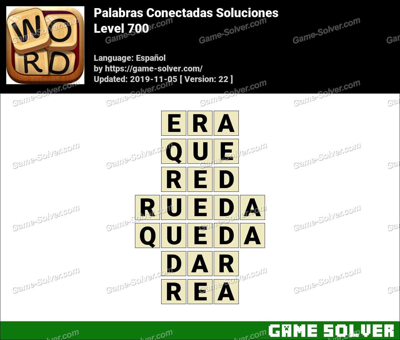 Palabras Conectadas Nivel 700 Soluciones