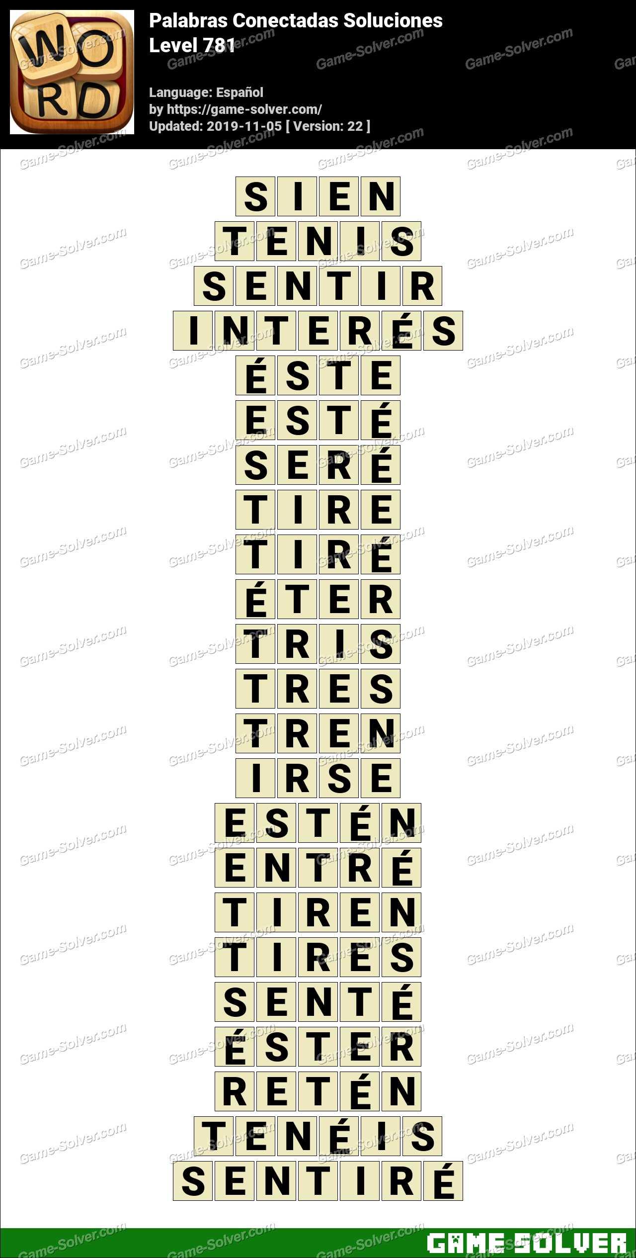 Palabras Conectadas Nivel 781 Soluciones