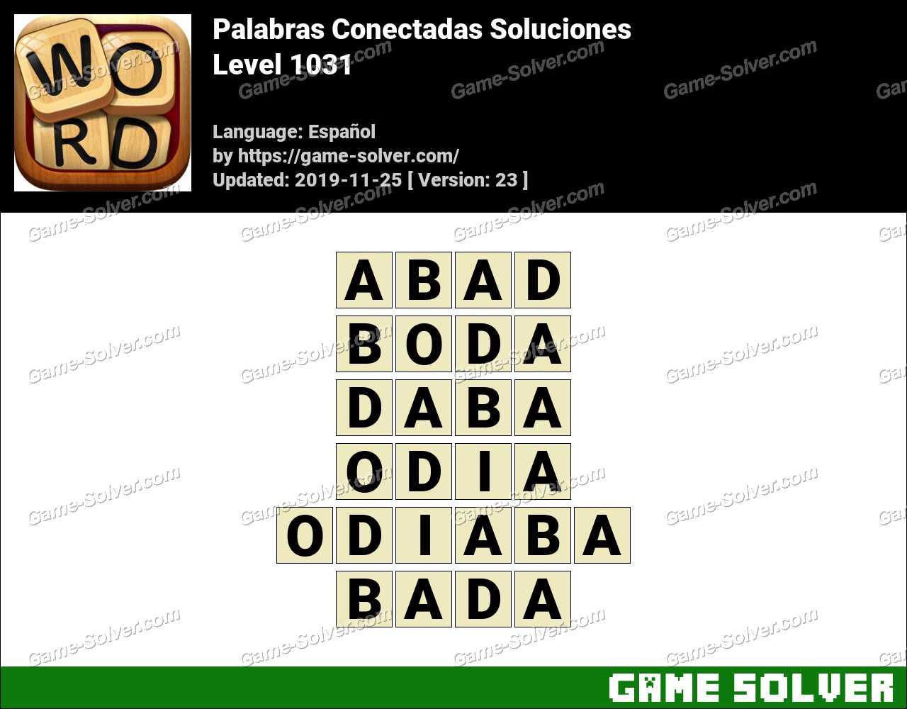 Palabras Conectadas Nivel 1031 Soluciones