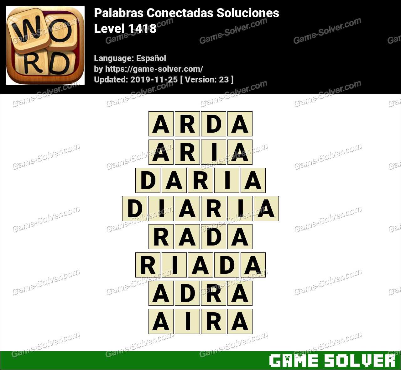 Palabras Conectadas Nivel 1418 Soluciones