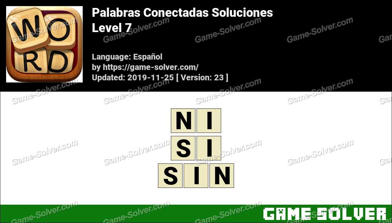 Palabras Conectadas Nivel 7 Soluciones