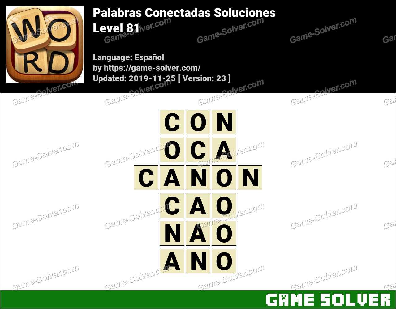 Palabras Conectadas Nivel 81 Soluciones