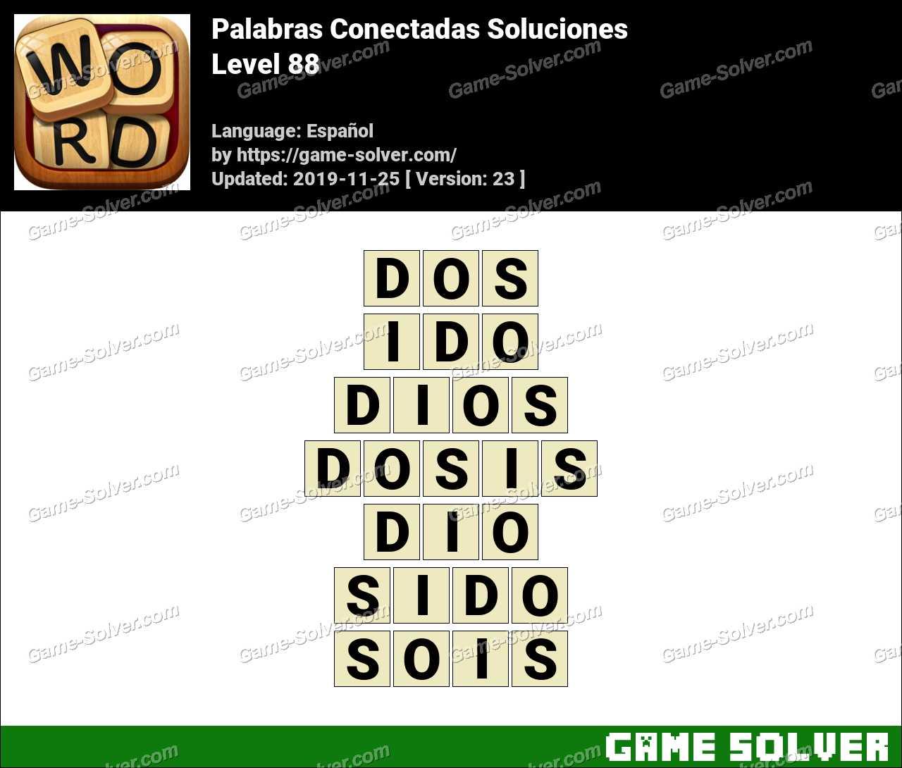 Palabras Conectadas Nivel 88 Soluciones