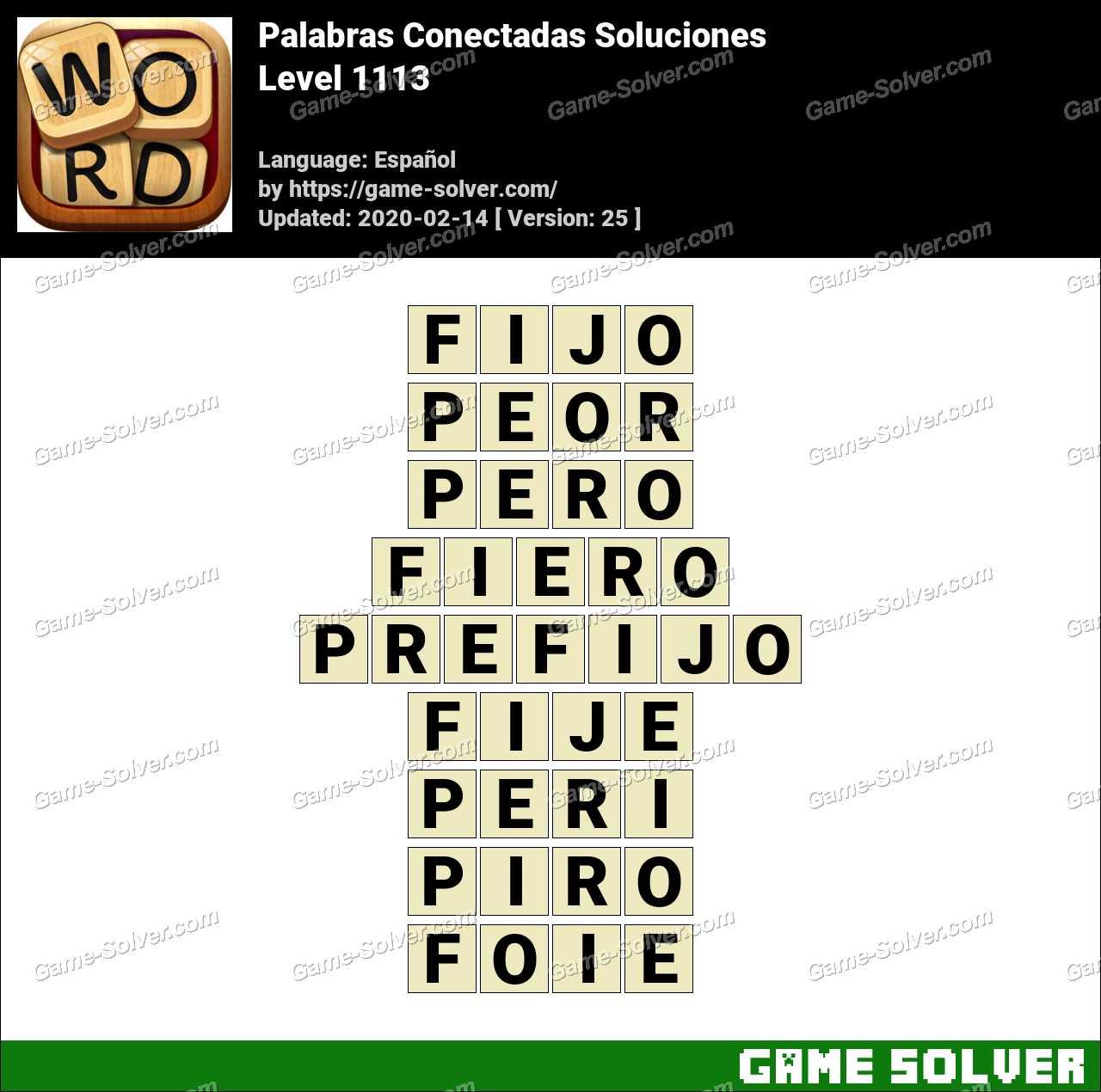 Palabras Conectadas Nivel 1113 Soluciones