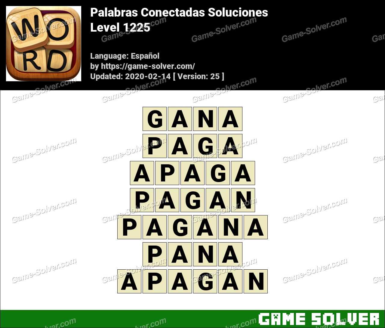 Palabras Conectadas Nivel 1225 Soluciones