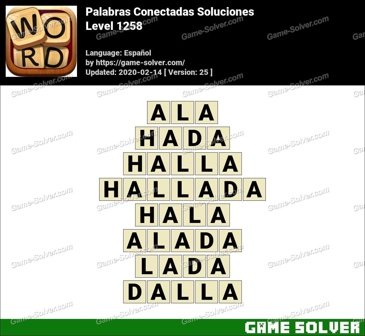 Palabras Conectadas Nivel 1258 Soluciones