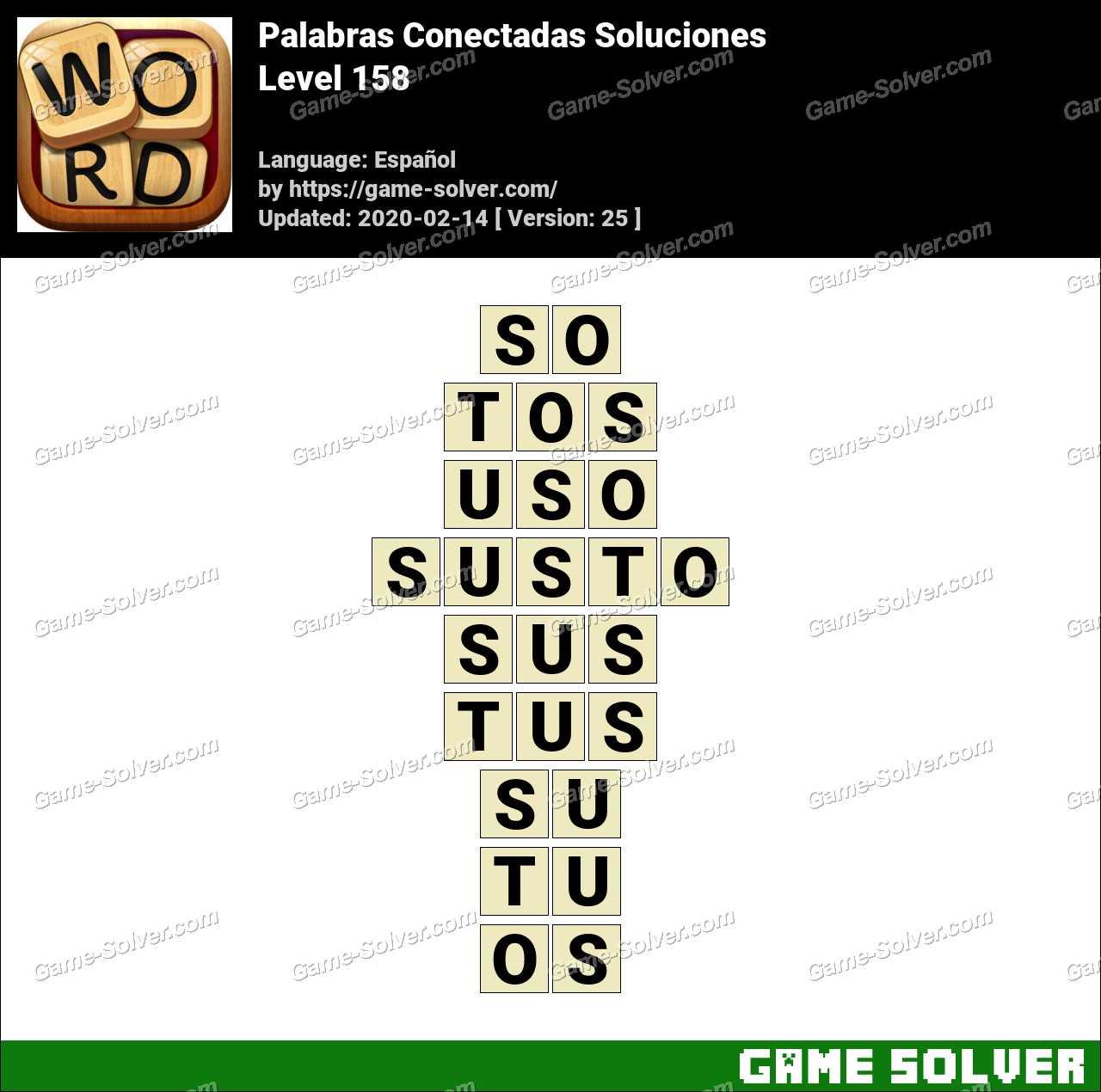 Palabras Conectadas Nivel 158 Soluciones