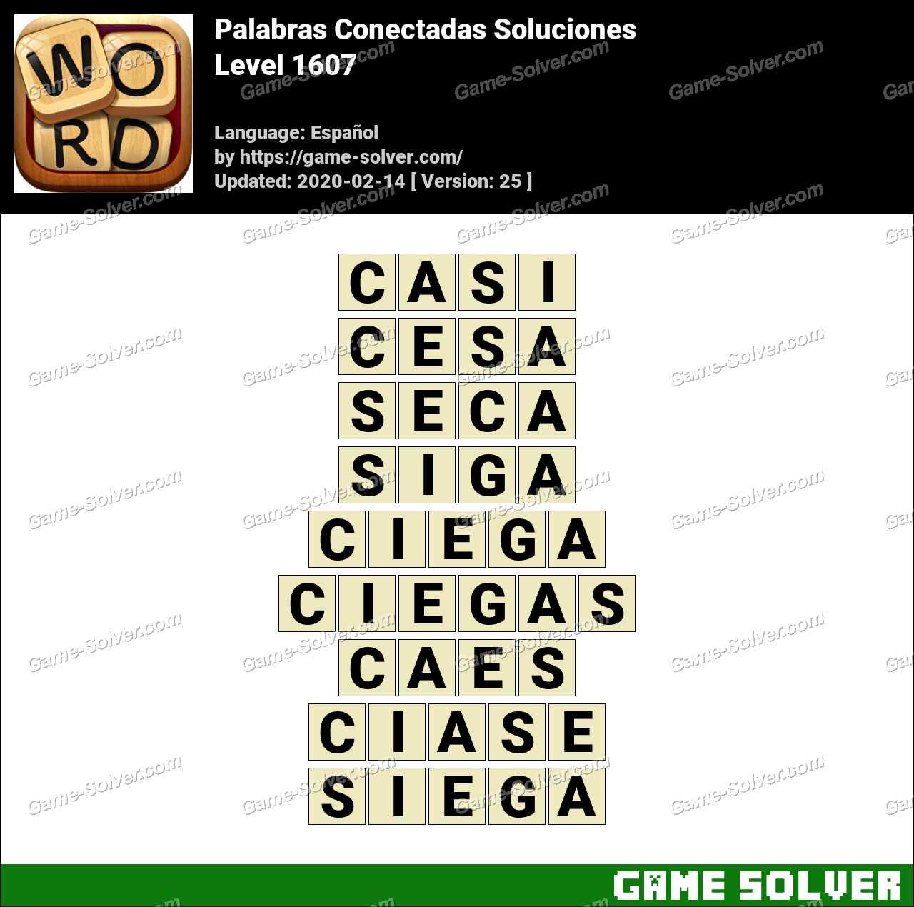 Palabras Conectadas Nivel 1607 Soluciones