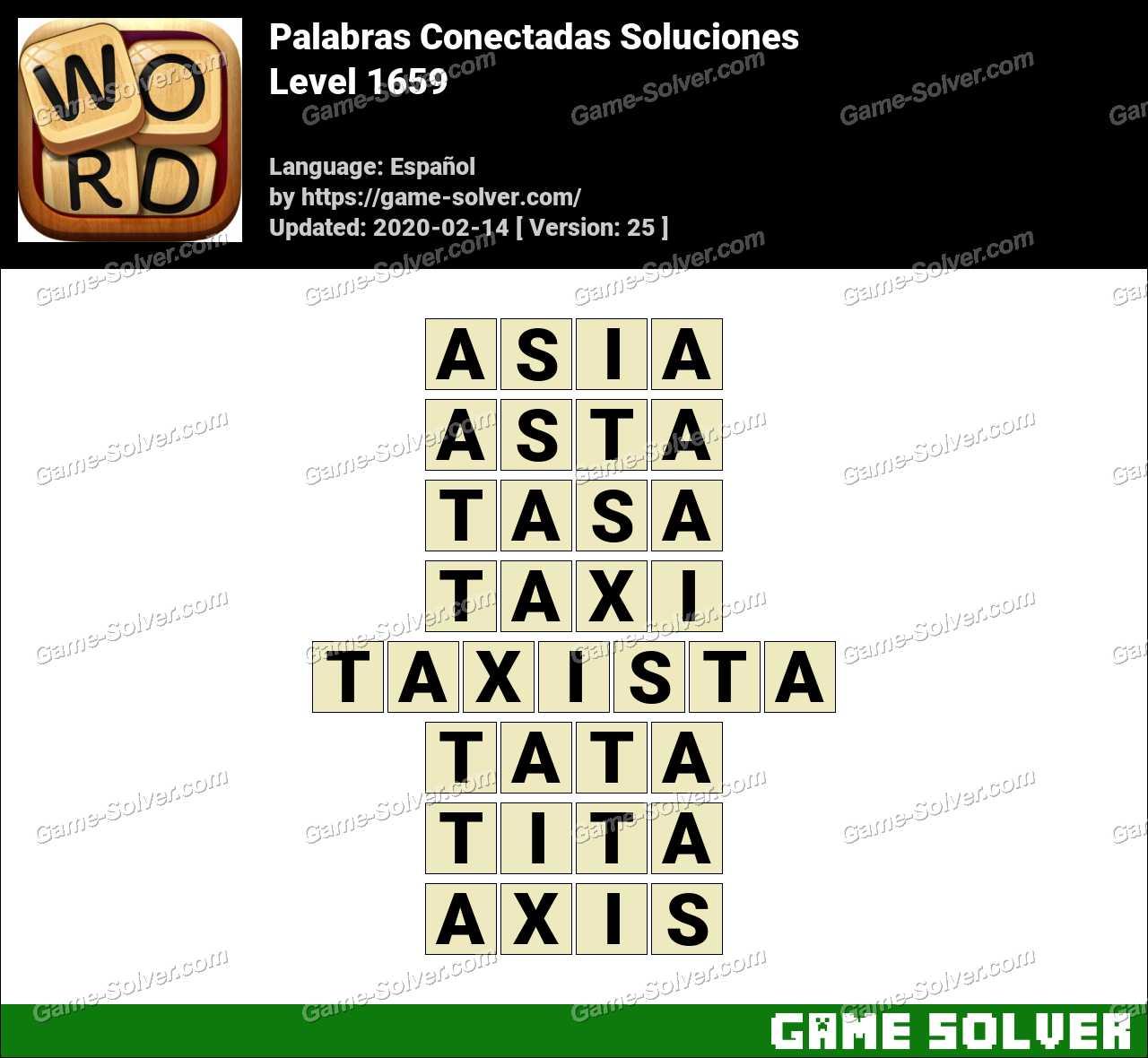 Palabras Conectadas Nivel 1659 Soluciones