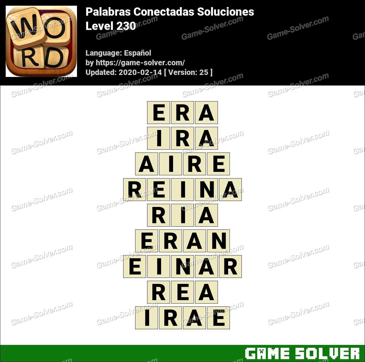 Palabras Conectadas Nivel 230 Soluciones