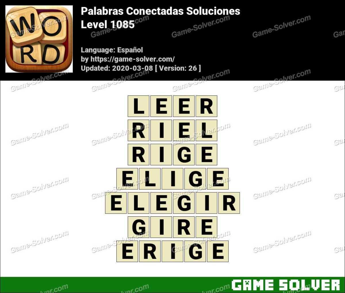Palabras Conectadas Nivel 1085 Soluciones
