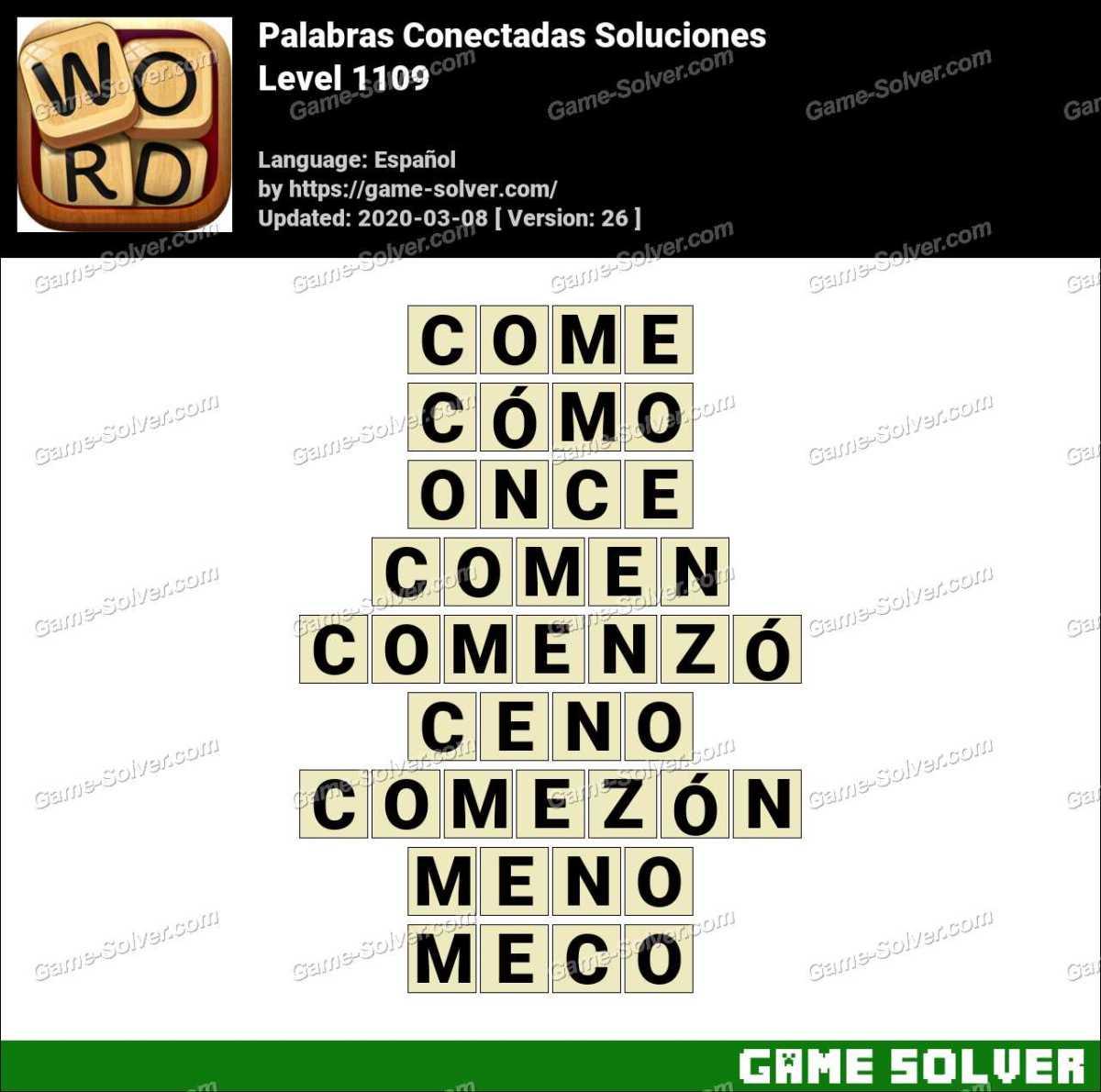 Palabras Conectadas Nivel 1109 Soluciones