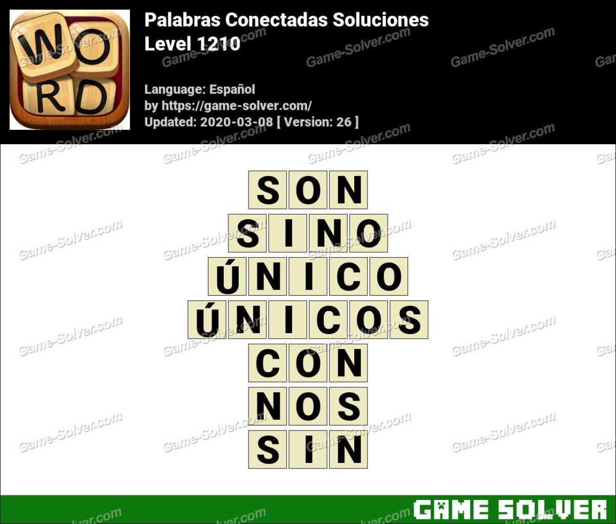 Palabras Conectadas Nivel 1210 Soluciones