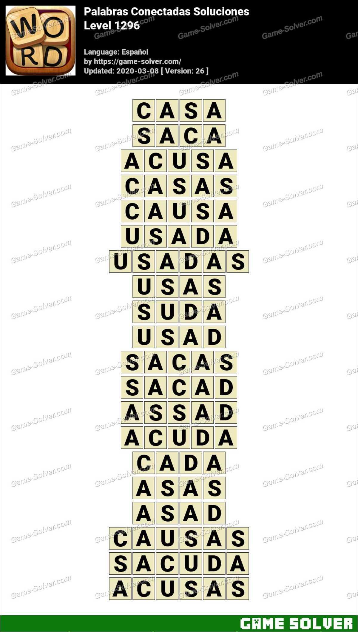 Palabras Conectadas Nivel 1296 Soluciones