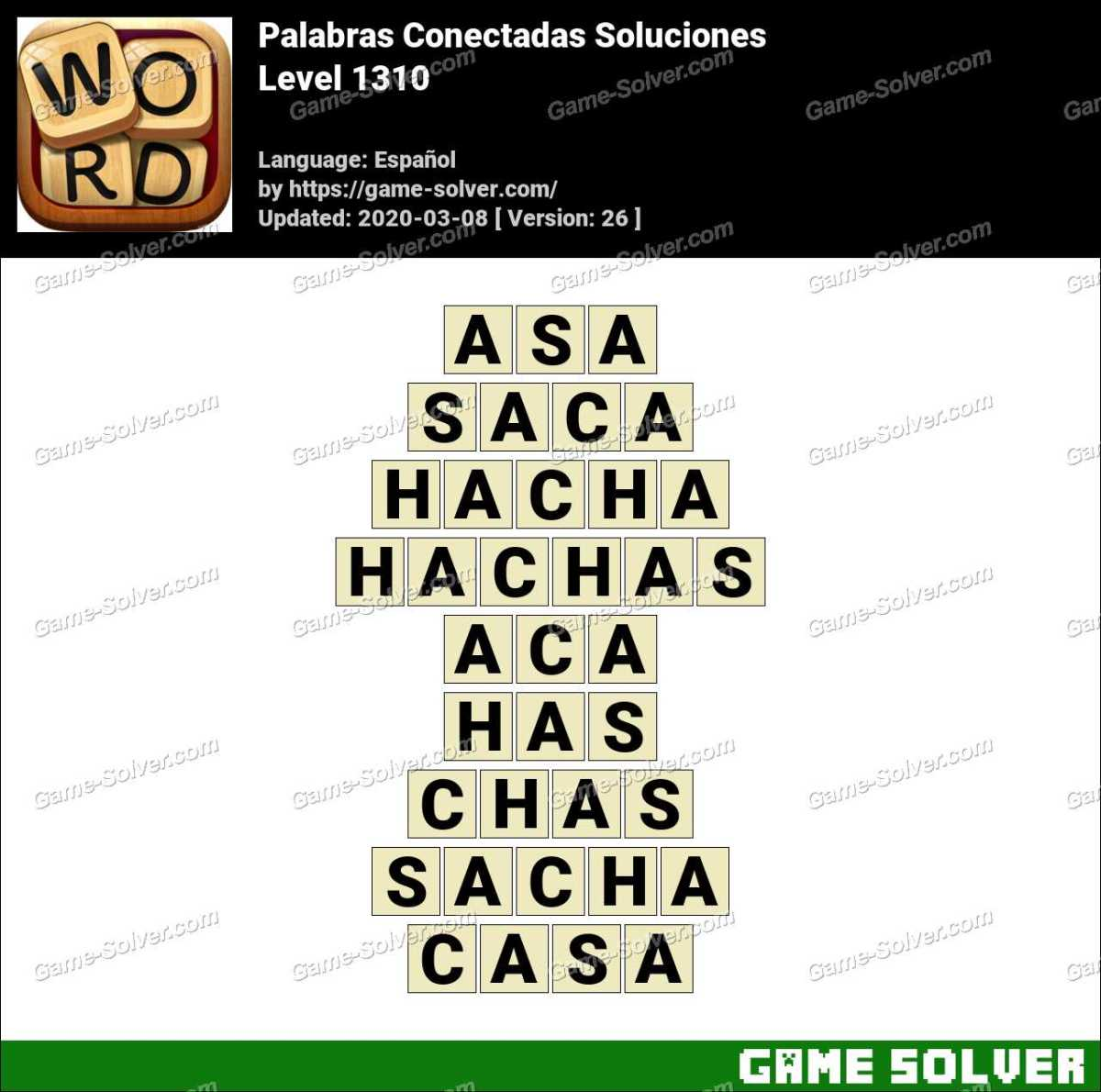 Palabras Conectadas Nivel 1310 Soluciones