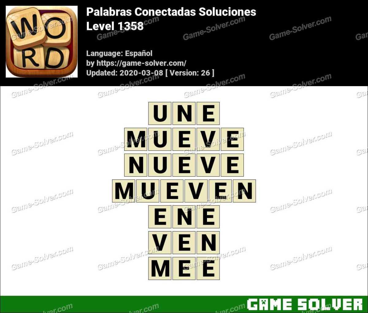 Palabras Conectadas Nivel 1358 Soluciones