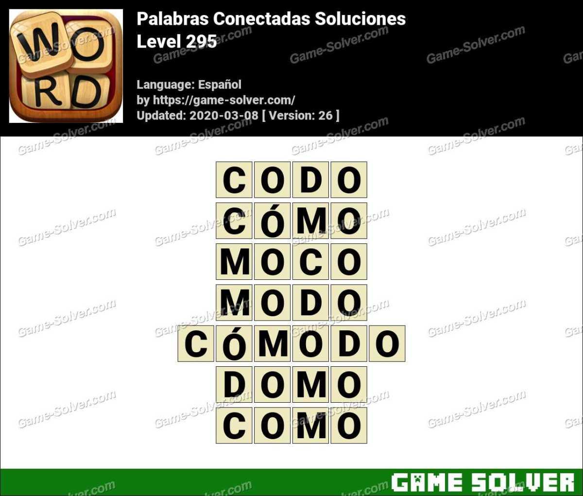 Palabras Conectadas Nivel 295 Soluciones