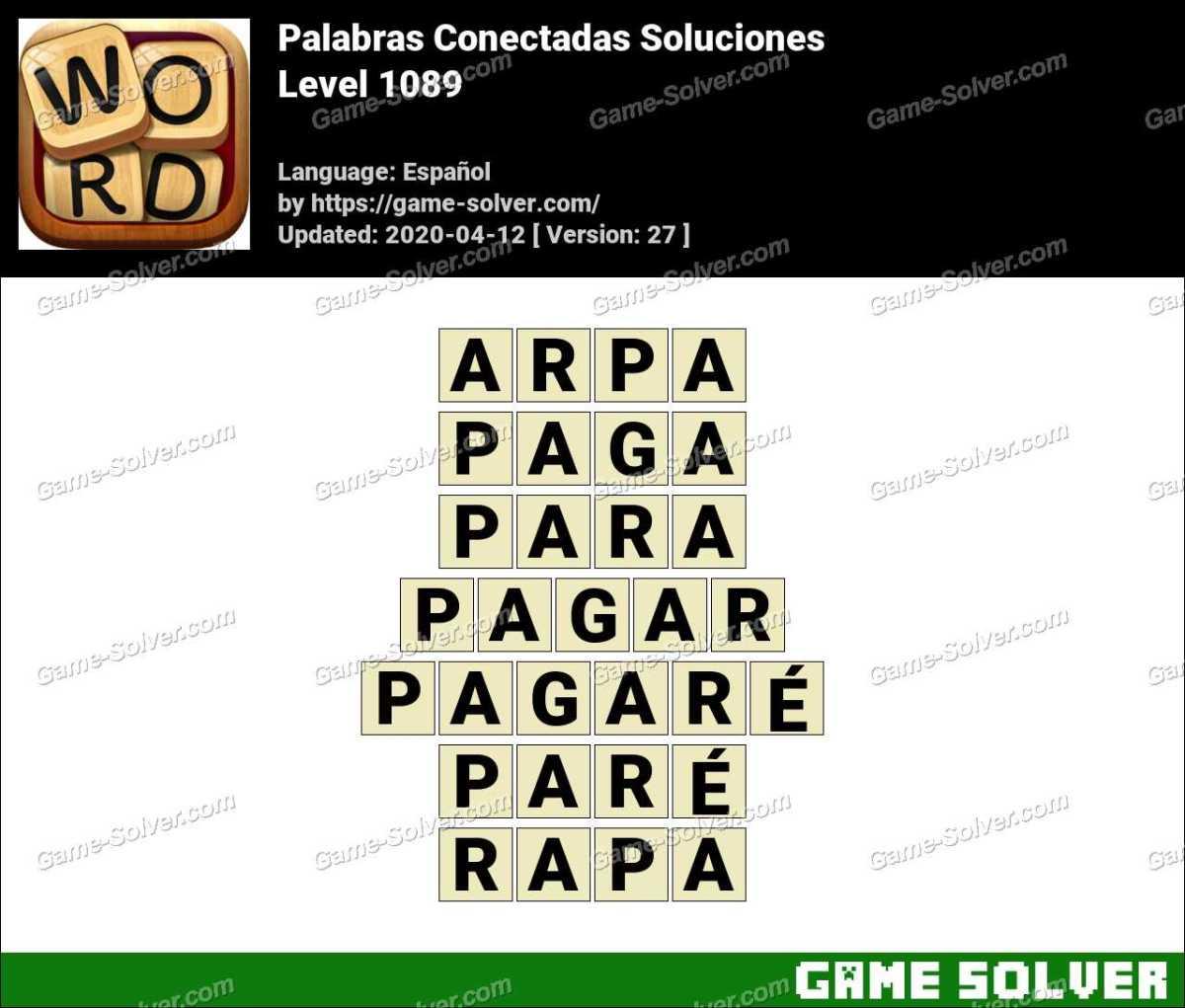 Palabras Conectadas Nivel 1089 Soluciones