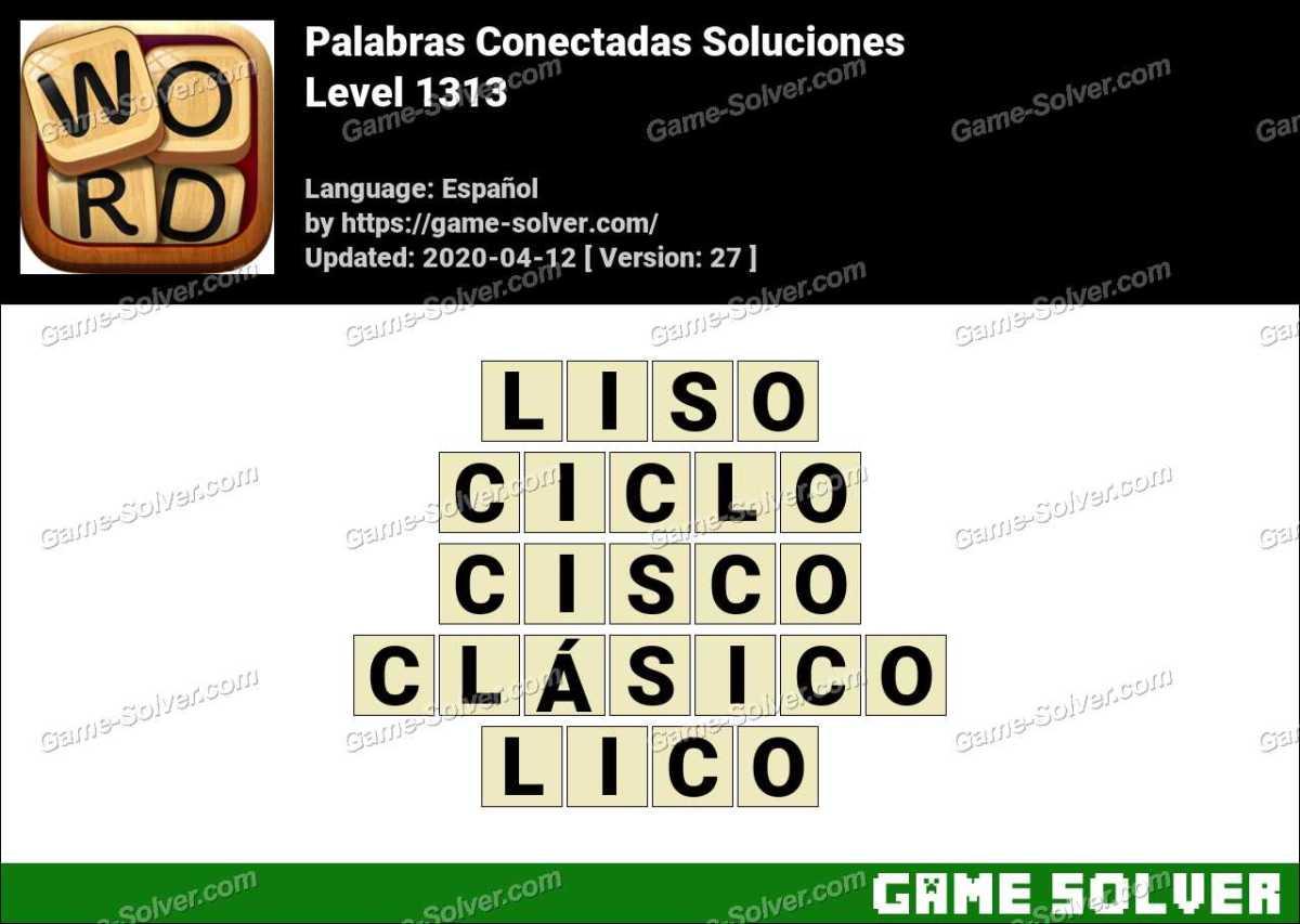 Palabras Conectadas Nivel 1313 Soluciones