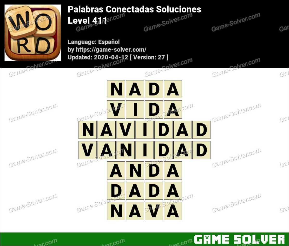 Palabras Conectadas Nivel 411 Soluciones