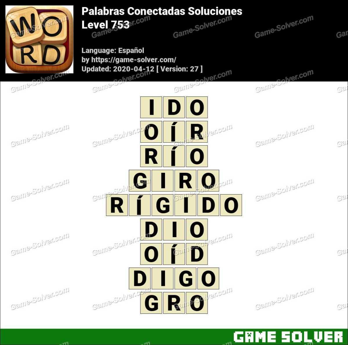 Palabras Conectadas Nivel 753 Soluciones