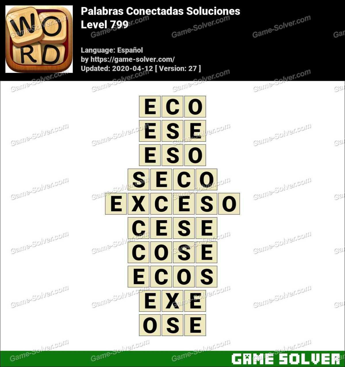 Palabras Conectadas Nivel 799 Soluciones