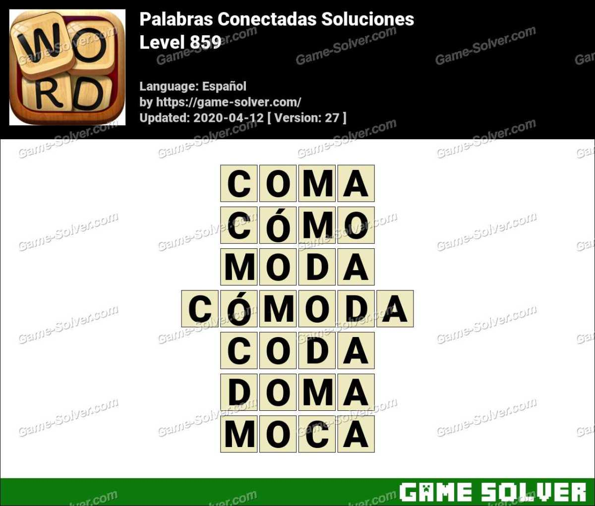 Palabras Conectadas Nivel 859 Soluciones