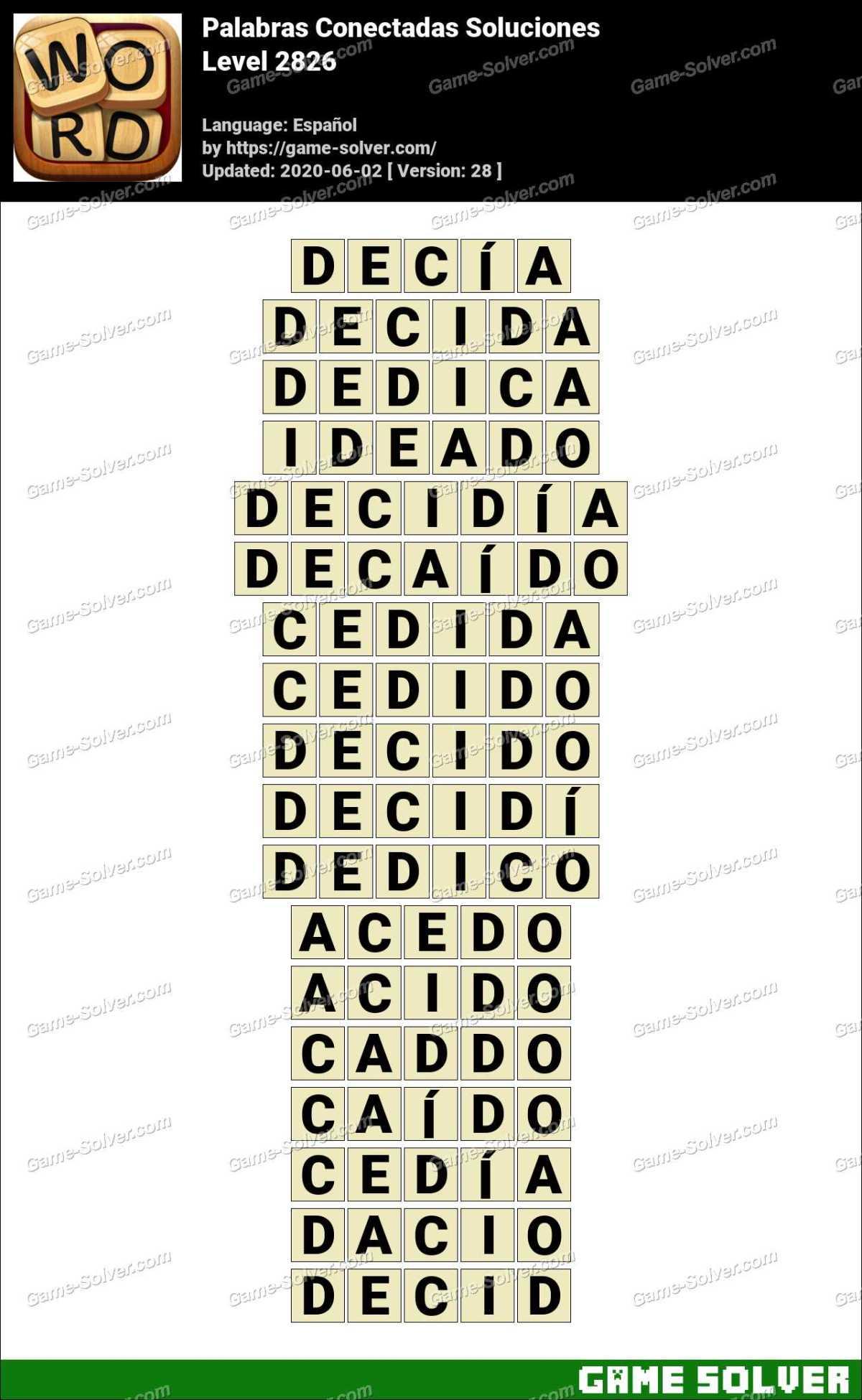 Palabras Conectadas Nivel 2826 Soluciones