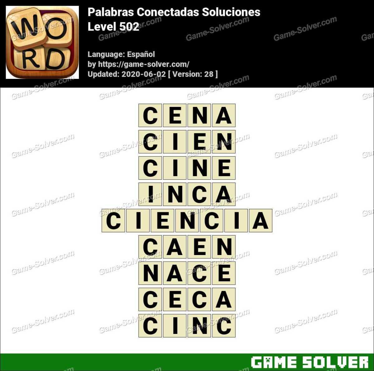 Palabras Conectadas Nivel 502 Soluciones