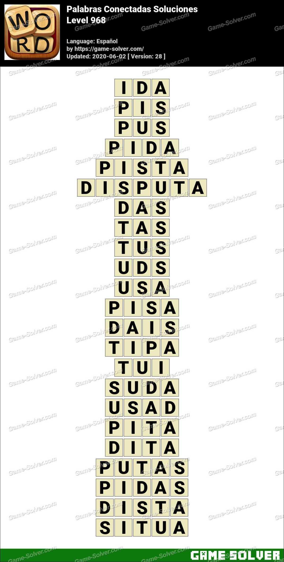 Palabras Conectadas Nivel 968 Soluciones