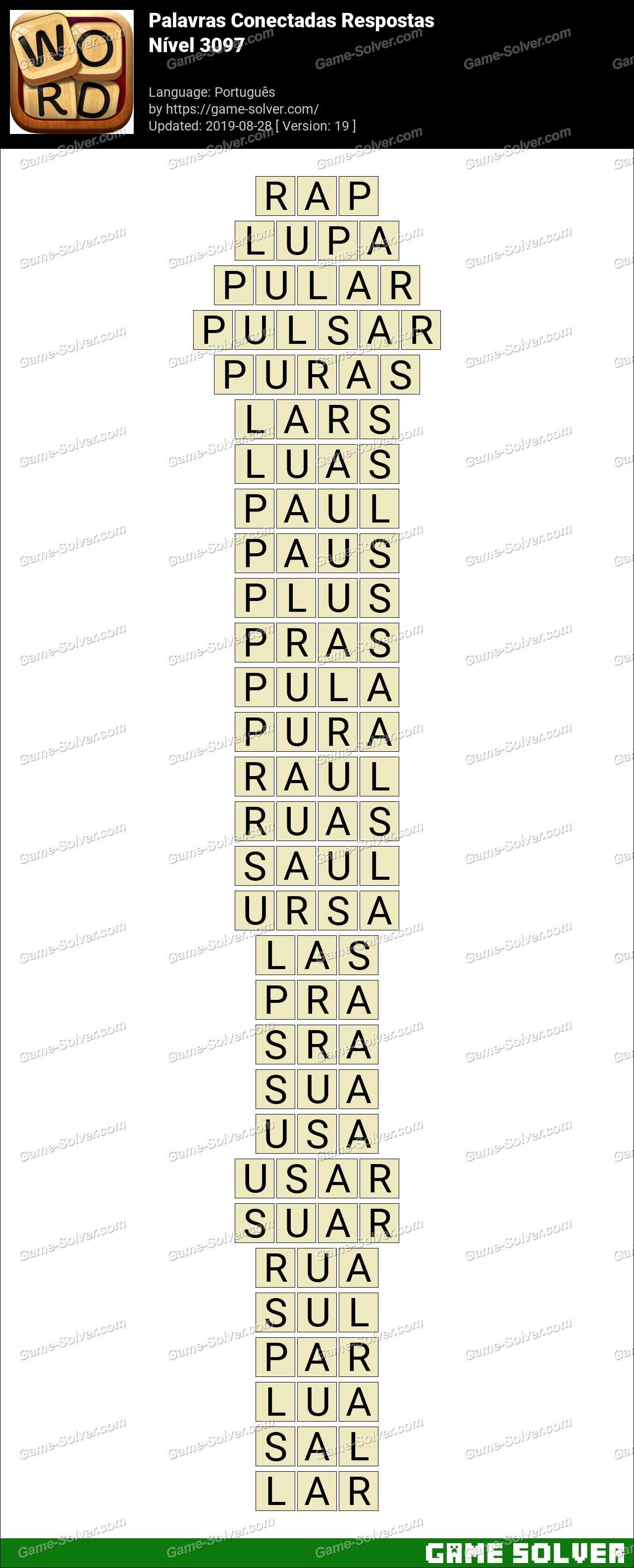 Palavras Conectadas Nivel 3097 Respostas