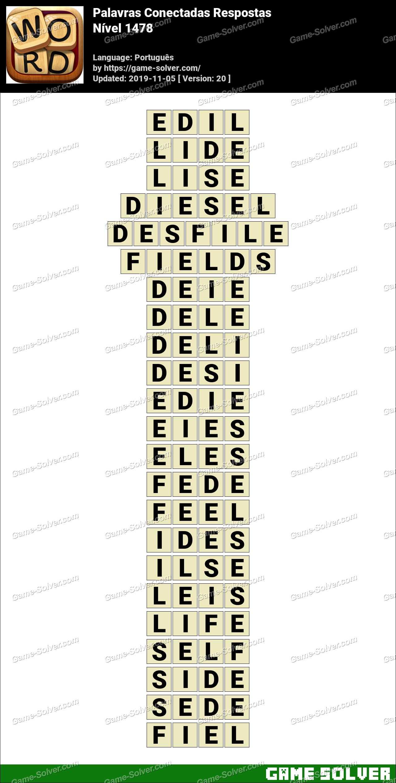 Palavras Conectadas Nivel 1478 Respostas