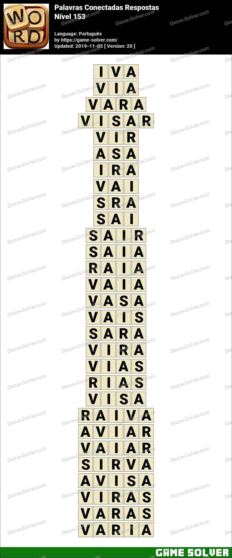 Palavras Conectadas Nivel 153 Respostas