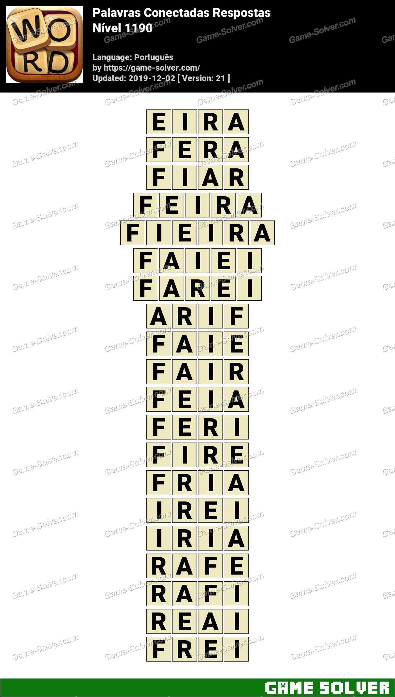 Palavras Conectadas Nivel 1190 Respostas