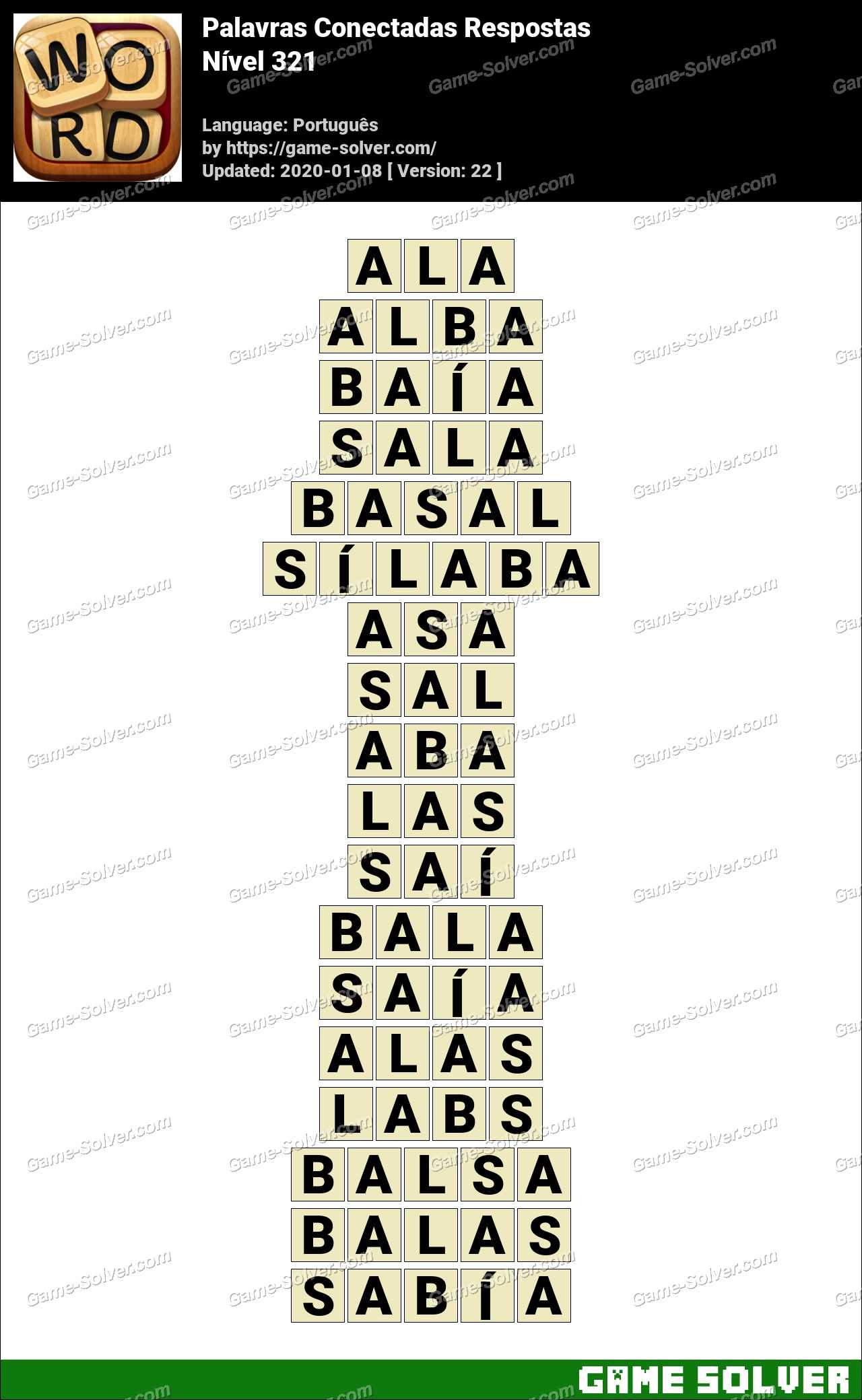 Palavras Conectadas Nivel 321 Respostas