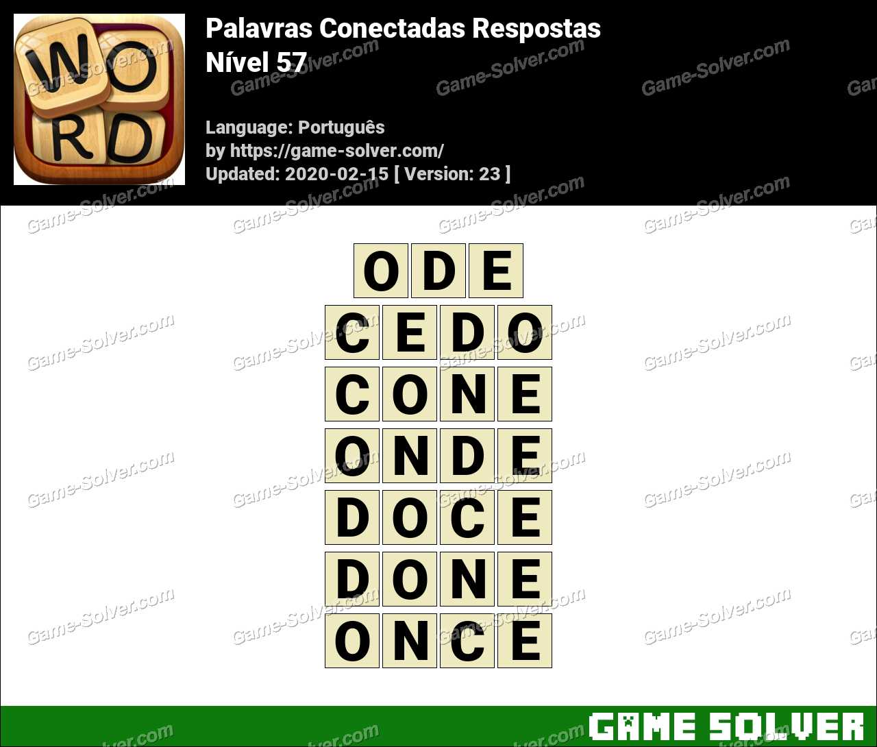Palavras Conectadas Nivel 57 Respostas