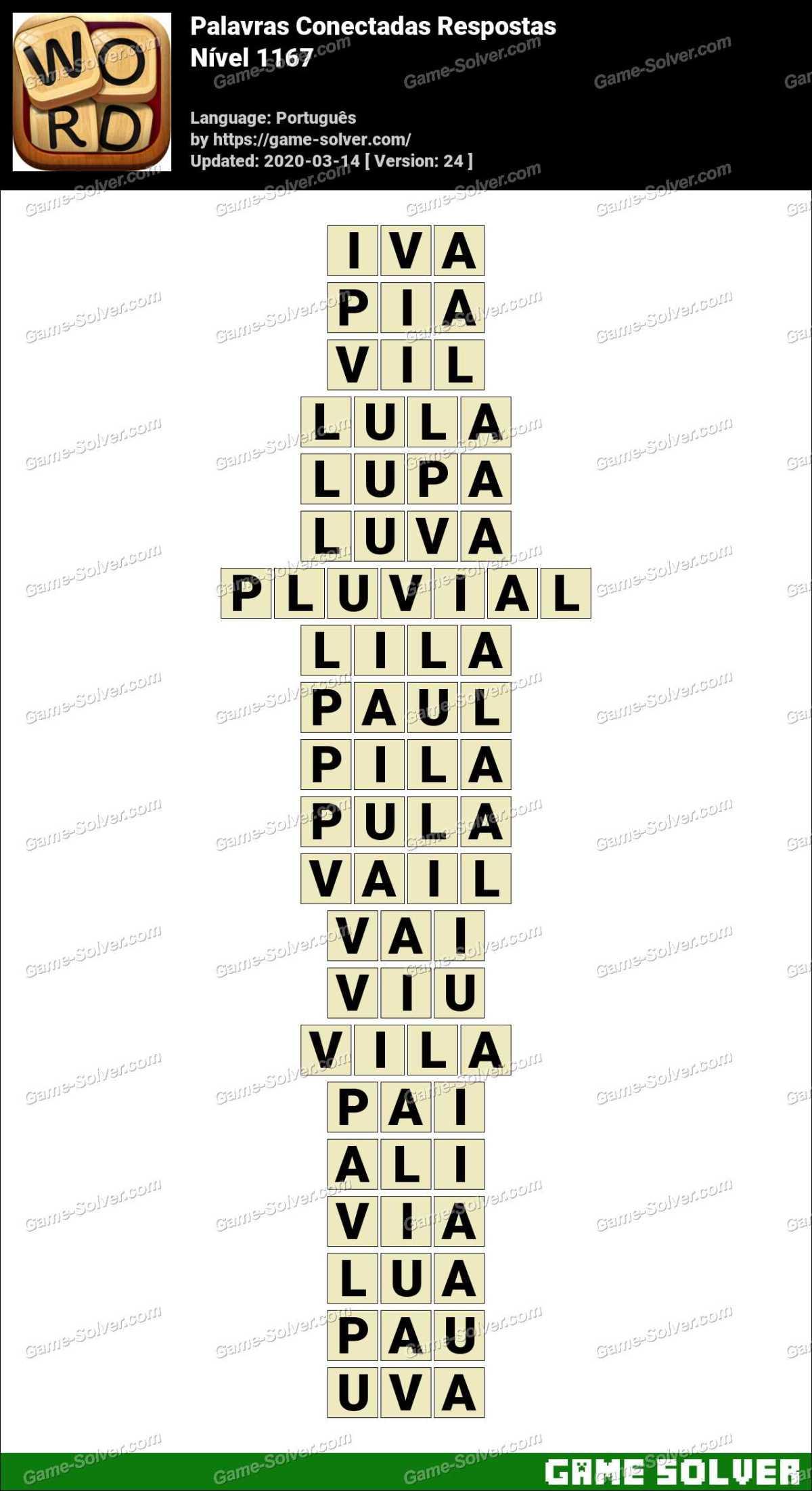 Palavras Conectadas Nivel 1167 Respostas