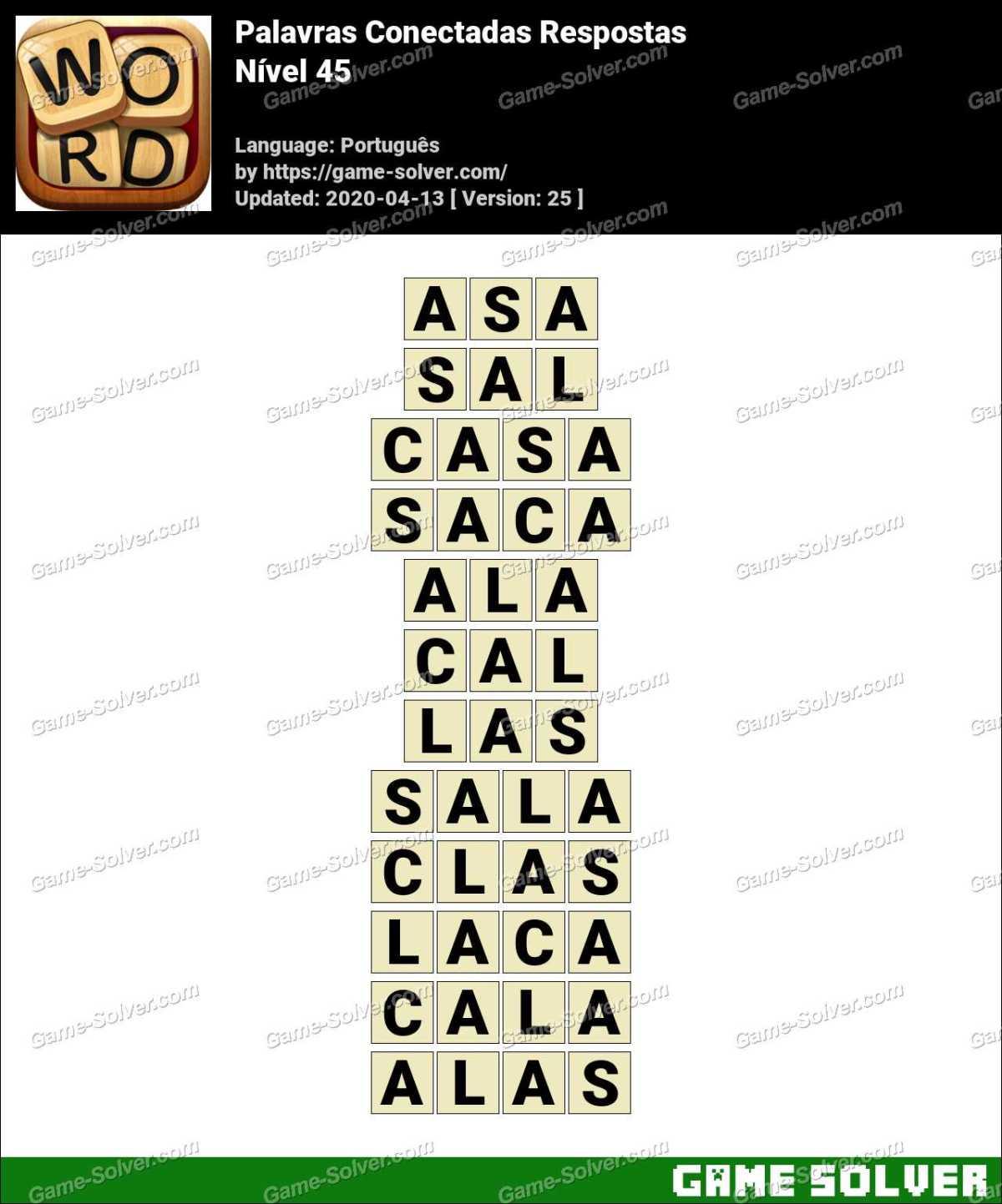 Palavras Conectadas Nivel 45 Respostas