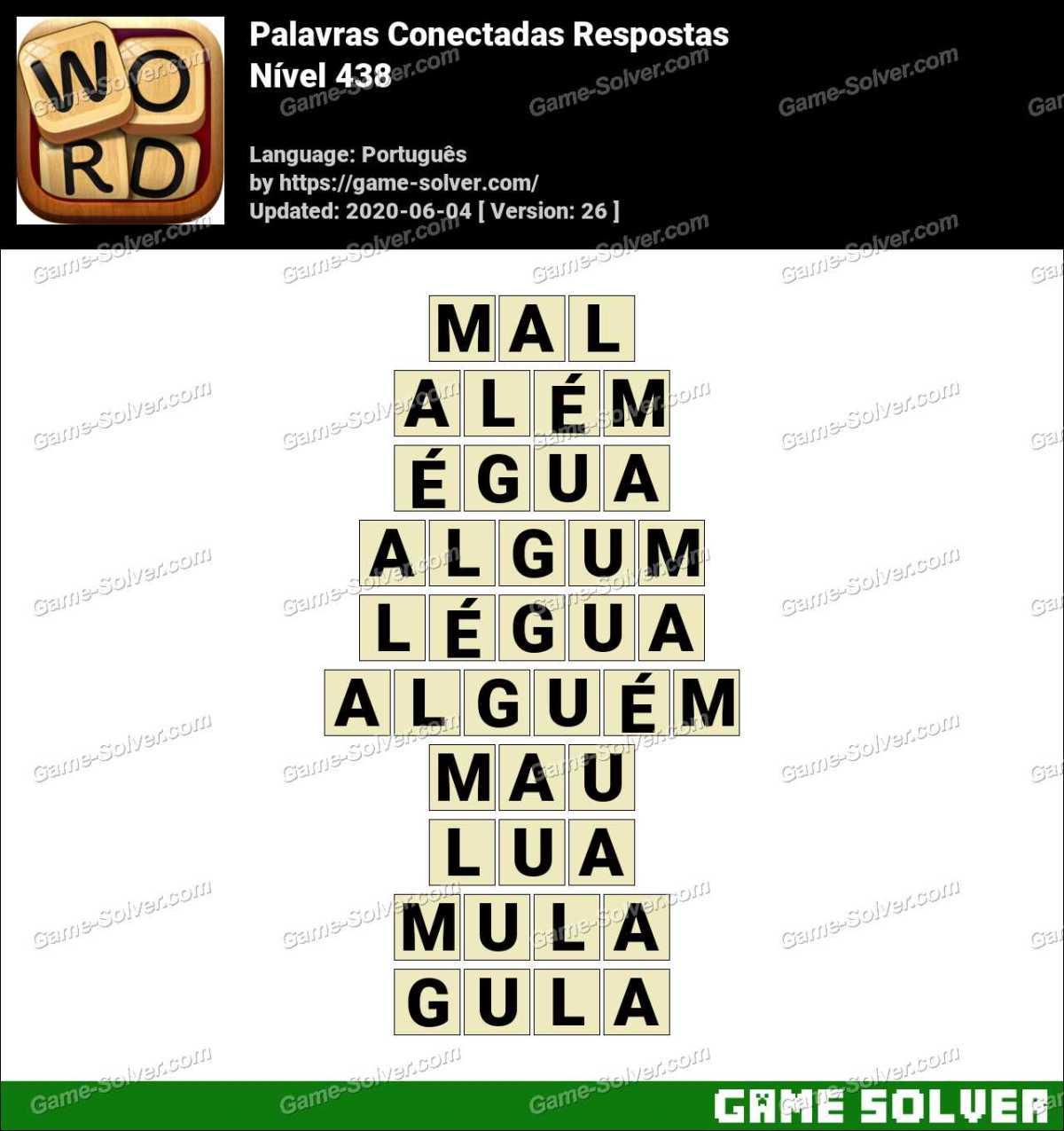 Palavras Conectadas Nivel 438 Respostas